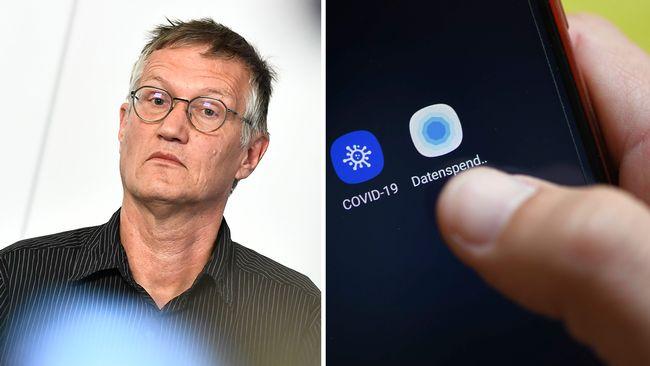 """Anders Tegnell: """"Vi har för stor smittspridning för att använda corona-app"""""""