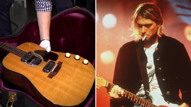Kurt Cobains gitarr såld för rekordsumma
