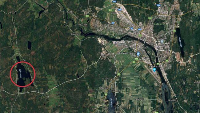 Drunkningstillbud i Bjännsjön utanför Umeå