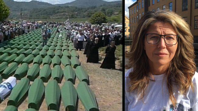 Bosnier i Norrköping minns folkmordet i Srebrenica