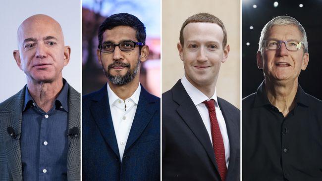 Fyra techjättar i historiskt kongressförhör