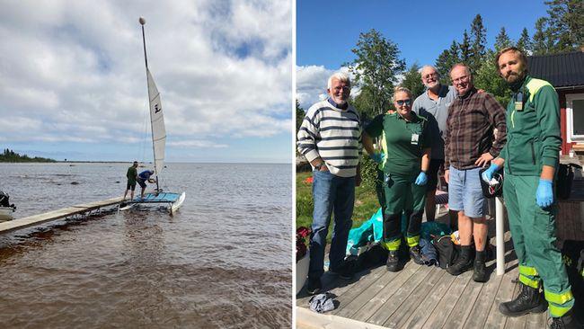 Båten kapsejsade – Hans och Per räddades av granne efter en timme i vattnet