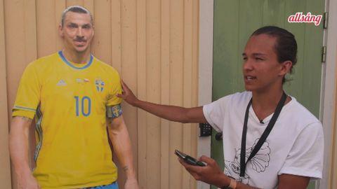 Frans Jeppsson Wall och Zlatan Ibrahimovic.