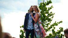 Anders Glenmark och Sanna Nielsen.