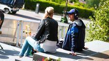 Sanna Nielsen och manusförfattaren Fredrik Zander.