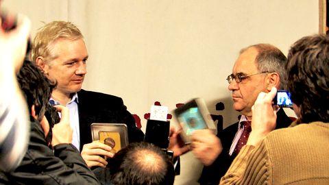 Julian Assange och Rudolf Elmer.