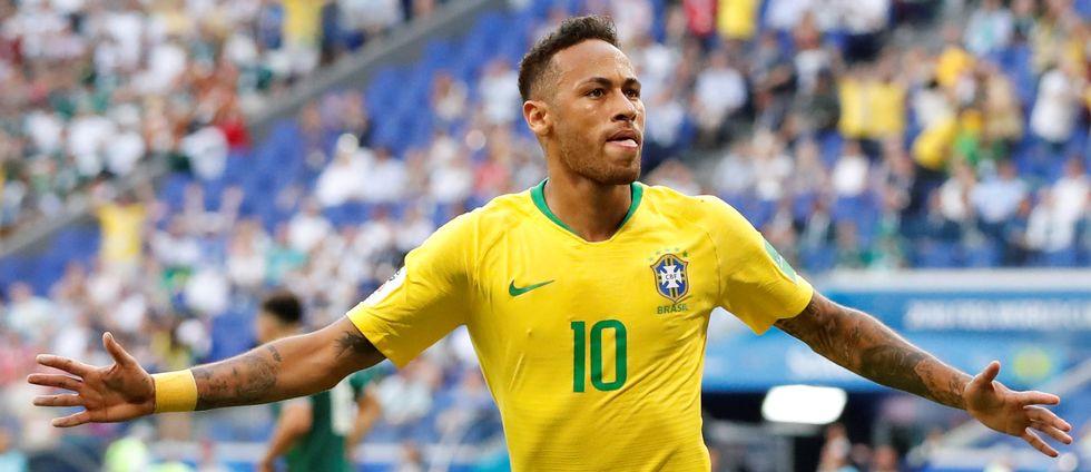 Neymar firar mål för Brasilien