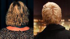 Det blev en betydligt ljusare ton och kortare frisyr när Åsa fick bestämma.