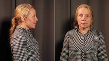 Yvonne innan sin förvandling.