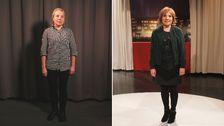 Yvonne före och efter förvandlingen som Jim och Hulda låg bakom.
