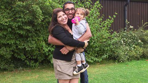 När Sahar var på semester i London träffade hon kärleken i sitt liv - engelsmannen Steven.