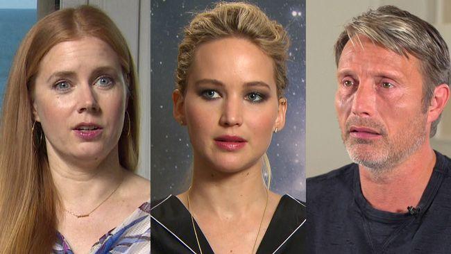Amy Adams, Jennifer Lawrence och Mads Mikkelsen är alla aktuella i rymdfilmer.