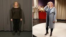 Julia Vislander före och efter förvandlingen.