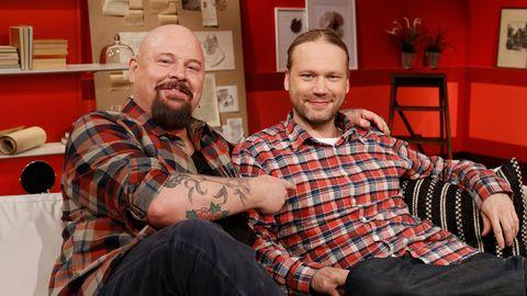 Anders Bagge och Martin Emtenäs är aktuella med nya programmet Det stora fågeläventyret.