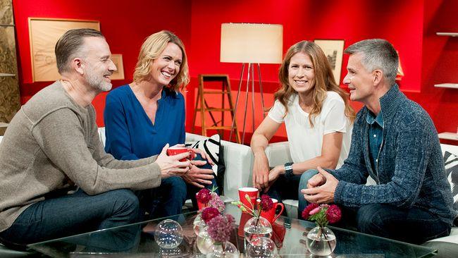Go'kvälls programledare Beppe Starbrink, Inger Ljung Olsson, Linda Olofsson och Pekka Heino.