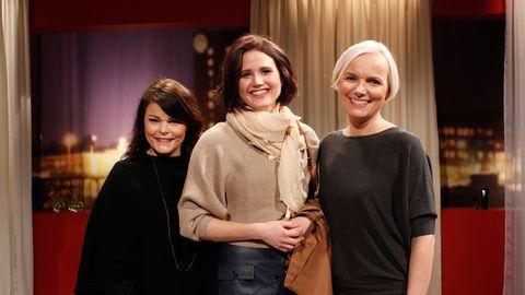 Heléne Hagman, Evelina Larsson och Hedvig Andér efter torsdagens Gör om mig.