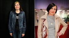 Margreth Jansson före och efter sin förvandling.