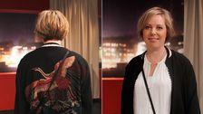 En ny och häftig frisyr för Karin.
