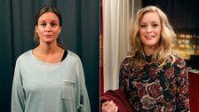 Kvinna före och efter omgörning.