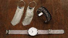 Klocka och armband, Zanzlöza Zmycken. Örhängen, Lindex.