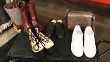 Skor: Stövlett, Zara. Loafer, Zara. Sandalett, Zara. Vita skor, Zara. Väska, Closed.