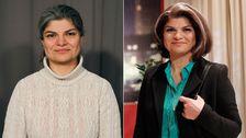 Fariba före och efter sin förvandling.