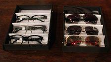 glasögon i lådor