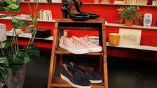 Svarta skor med klack, Tamaris. Rosa skor, Gant. Lågsko, Tamaris.