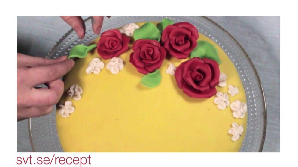 dekorera tårta