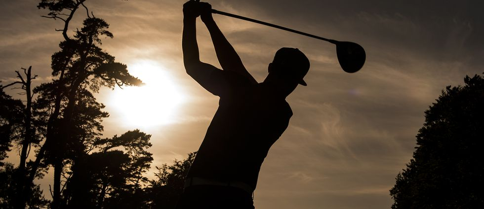 Golfspelare under dag ett av golftävlingen Nordea Masters den 1 juni 2017 i Barsebäck.