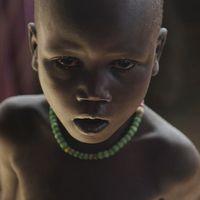 Ett barn som svälter.