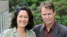 Bengt Norborg och Lena Scherman, programledare för Korrespondenterna.