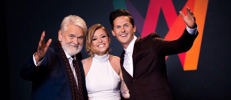 Hasse Andersson, Clara Henry, David Lindgren, Melodifestivalen 2017