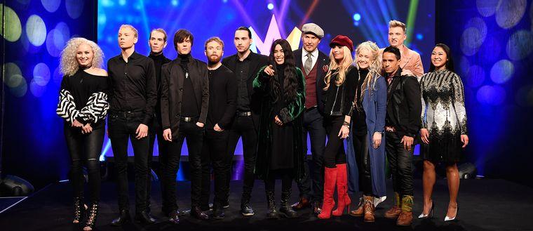 Artisterna i Melodifestivalens fjärde deltävling 2017.