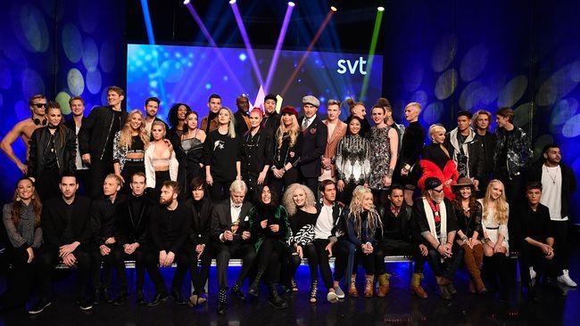 Alla artister i Melodifestivalen 2017.