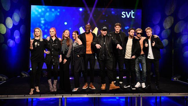 Artisterna i första deltävlingen i Melodifestivalen 2017.