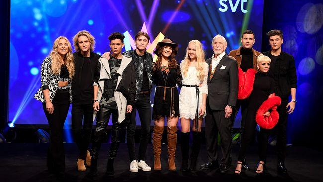 Artisterna i tredje deltävlingen i Melodifestivalen 2017.