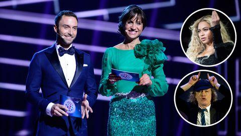 Eurovision ställs mot bland andra AC/DC och Beyoncé i gala.