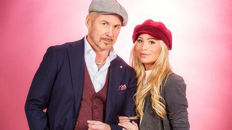 """Sara Varga och Juha Mulari sjunger """"Du får inte ändra på mig"""" i Melodifestivalen2017."""