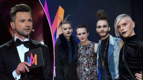 Ola Salo och Dismissed inför Melodifestivalen 2017.