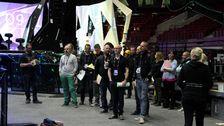 Bild på delar av Eurovision-teamet.