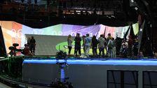Bild på Eurovisionscenen.