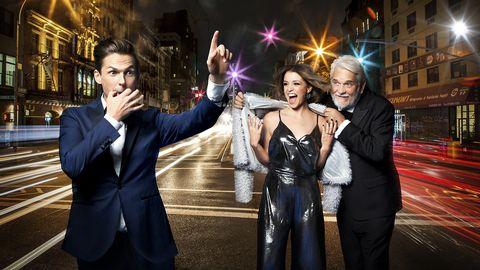 David Lindgren, Clara Henry och Hasse Andersson är programledare för Melodifestivalen 2017.