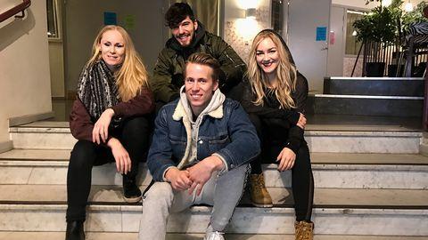 Linda Hansson, EdinJusuframic MartinJonsson och NathalieAkselsen är husdansare i Melodifestivalen 2017.