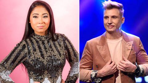 Alice och Axel Schylström tävlar i Melodifestivalens fjärde deltävling 2017.