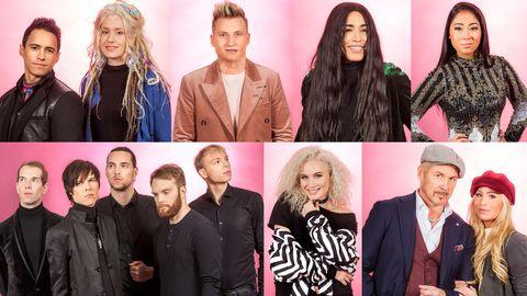 Artisterna som tävlar i Melodifestivalens fjärde deltävling 2017.