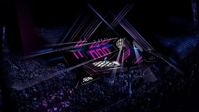 A cena no Festival Eurovisão da Canção 2017.