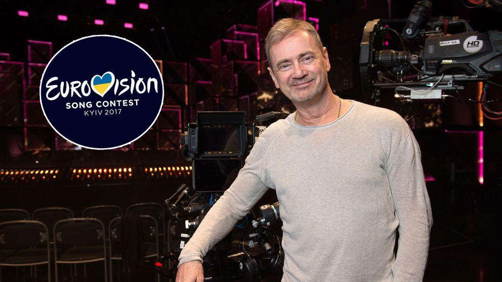 Christer Björkman och Eurovision-loggan för 2017.