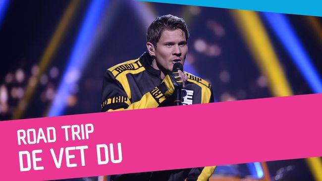 De Vet Du sjunger Road Trip i Melodifestivalen 2017.