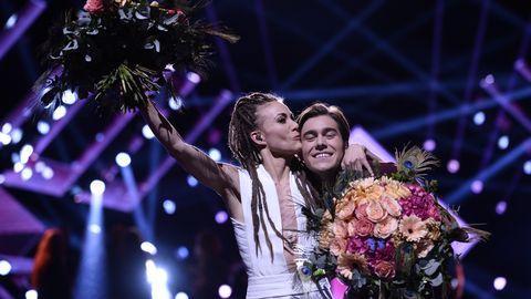 Mariette och Benjamin går till final från Melodifestivalens andra deltävling 2017.